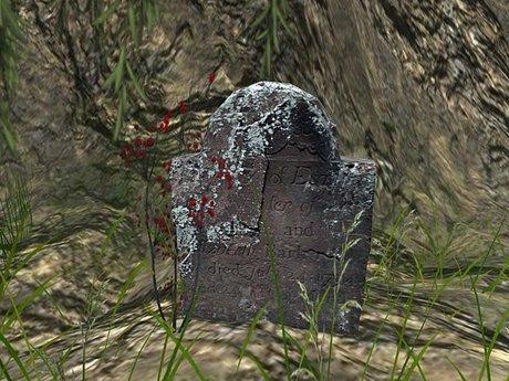 DD [TUFF] Old Gravestone 1 - Lichen