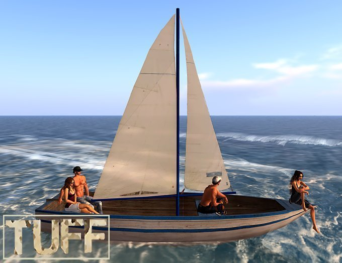 DD [TUFF] Blue & White Sailboat